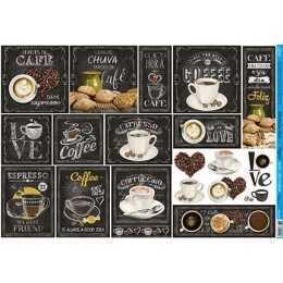 Papel para Decoupage PD429 - Cafe, Chá e Bolinho de Chuva