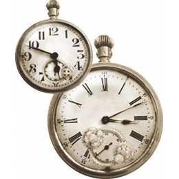 Aplique em Papel e MDF - APM8 -1136 - Relógio - 1 unidade