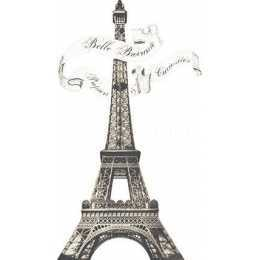 Aplique em Papel e MDF - APM8 -1137 - Torre Eiffel - 1 unidade