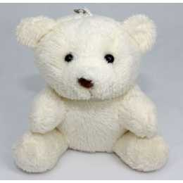 Miniatura de Pelúcia - Urso Marfim 10cm