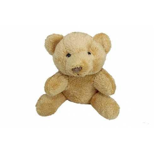 Miniatura de Pelúcia - Urso Caramelo - 9cm - Sentado