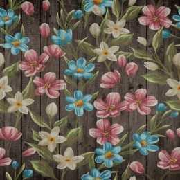 Folha para Scrapbook Simples LSCE048 - Flores Pintadas no Pallet