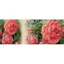 Barra Adesiva para Decoupage LB775 - Rosas Côr de Rosa
