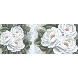 Barra Adesiva para Decoupage LB777 - Flores Brancas