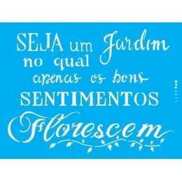Stencil de Acetato OPA 15x20cm - OPA 2611 - Frase