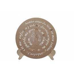 Mandala Oração - Santo Anjo 30cm