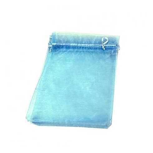 Saquinho de Organza Azul - 9x12cm