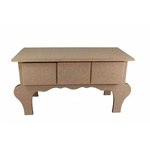 Porta Jóia em MDF - Cômoda de mesa com 3 Gavetas