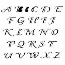 Stencil de Acetato OPA 15x20cm - OPA 299 Alfabeto Clássico