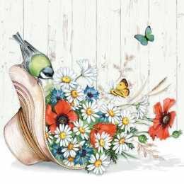 Guardanapo Flores Margaridas no Chapeu (391)