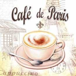 Guardanapo Xícara Rosada, Café Paris (578)