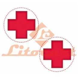 Aplique em Papel e MDF - LMAP 054 - Cruz de Farmácia