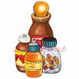 Aplique em Papel e MDF - LMAPC397 - Vidro de Remédios
