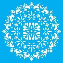 Stencil de Acetato Litocart 25x25cm - LSPQ001 - Mandala