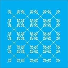 Stencil de Acetato Litocart 14x14cm - LSP028 - Arabescos Geométricos