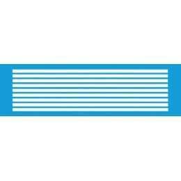 Stencil de Acetato Litocart 8,5x29,5cm - LS011 - Listras