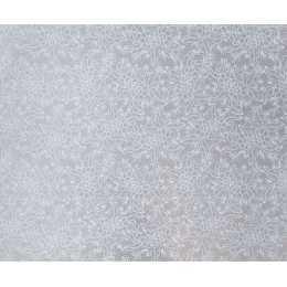 Folha para Scrapbook Perolizado LSCPL011 - Flores/Arabesco Prata