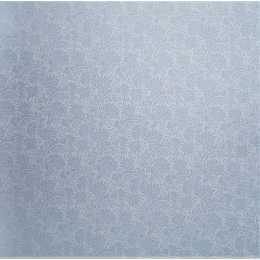 Folha para Scrapbook Perolizado LSCPL014 - Flores/Arabesco Azul