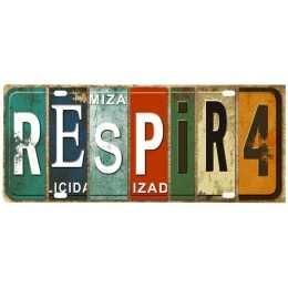 Aplique em Papel e MDF - APM8 - 1165 - Placa Respira