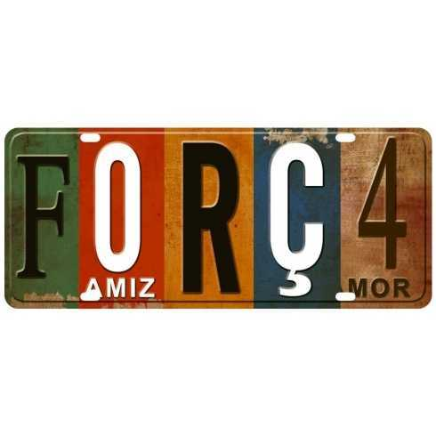 Aplique em Papel e MDF - APM8 - 1170 - Placa Força