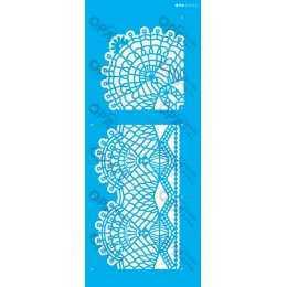 Stencil de Acetato OPA 17x42cm - OPA 2626 - Renda Com Cantoneira