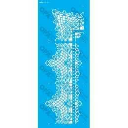 Stencil de Acetato OPA 17x42cm - OPA 2628 - Renda com Cantoneira III