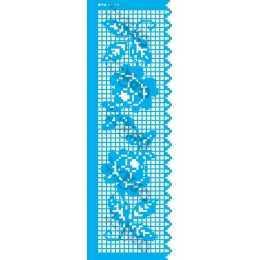 Stencil de Acetato OPA 10x30cm - OPA 2616 - Negativo Barrado Croche I