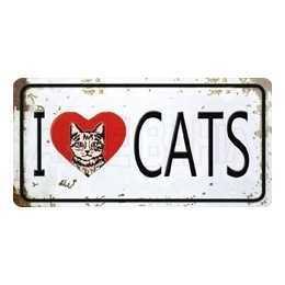 Aplique em Papel e MDF - LMAPC445 - I Love Cats