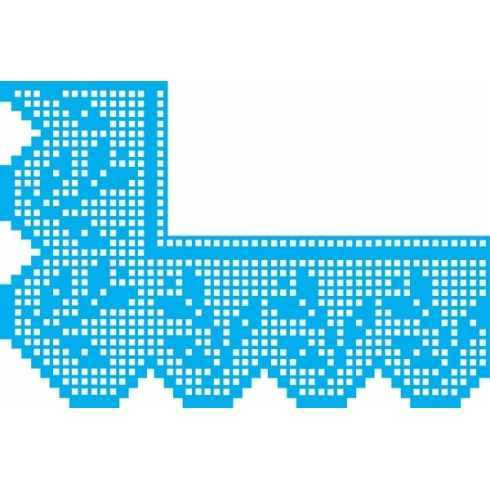 Stencil de Acetato Litocart 20x30cm - LSS063 - Cantoneira Renda