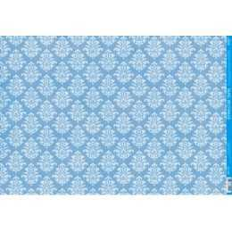Papel para Decoupage PD1007 - Arabesco Branco no Azul