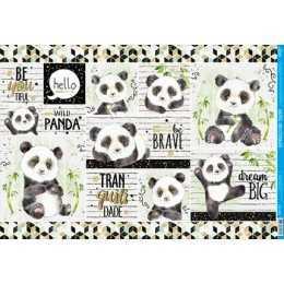 Papel para Decoupage PD1020 - Panda