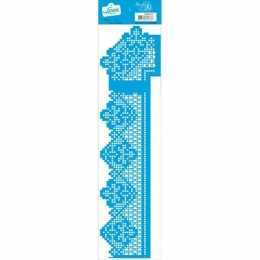 Stencil de Acetato Litoarte 40x11cm - STAG012 - Renda com Cantoneira