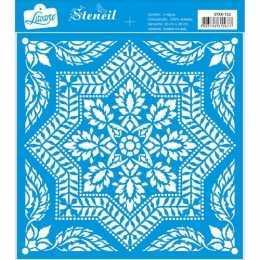 Stencil de Acetato Litoarte 20x20cm - STXX152 - Mandala Estrela