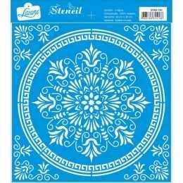 Stencil de Acetato Litoarte 20x20cm - STXX147-Mandala
