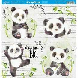 Folha para Scrapbook Dupla Face - SD1076 - Panda