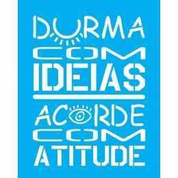 Stencil de Acetato Litocart 20x25cm - LSG141 - Frase
