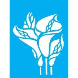 Stencil de Acetato Litocart 20x15cm - LSM121 -Flor Copo de Leite