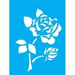 Stencil de Acetato Litocart 20x15cm - LSM118  -Flor Rosa