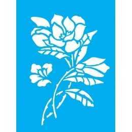 Stencil de Acetato Litocart 20x15cm - LSM127  -Flores