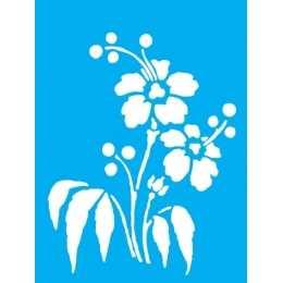 Stencil de Acetato Litocart 20x15cm - LSM119  -Flores