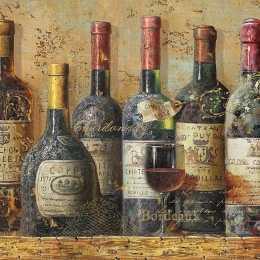 Guardanapo Garrafas de Vinho Envelhecidas (334)
