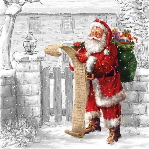 Guardanapo Papai Noel com Lista de Desejos (859)