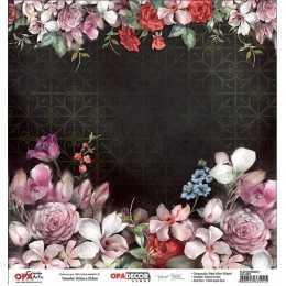 Folha para Scrapbook Dupla Face - OPA2643 - Flor Diversas 1