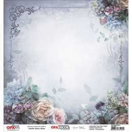 Folha para Scrapbook Dupla Face - OPA2644 - Flor Diversas 2