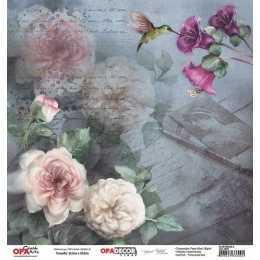 Folha para Scrapbook Dupla Face - OPA2652 - Flor Rosas 4