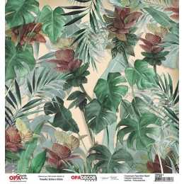 Folha para Scrapbook Dupla Face - OPA2658- Tropical 2