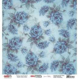 Folha para Scrapbook Dupla Face - OPA2800 - Flor Rosas 7