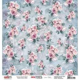 Folha para Scrapbook Dupla Face - OPA2801 - Flor Rosas 08