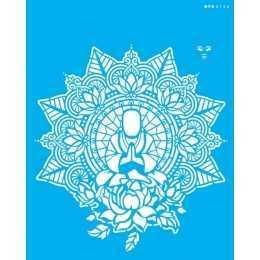 Stencil de Acetato OPA 20x25cm - OPA 2726 - Mandala Buda