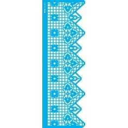 Stencil de Acetato OPA 10x30cm - OPA 2683 Negativo Renda VIII